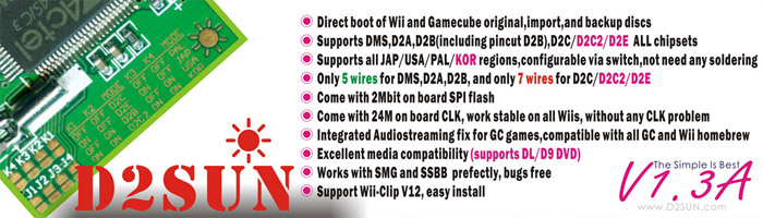 D2Sun v1.3a Mod Chip For Wii